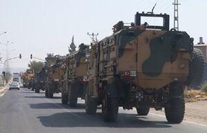 یک کاروان نظامی مشکوک با اسکورت آمریکا وارد عراق شد