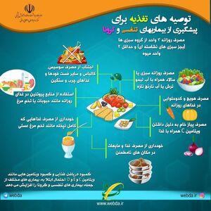 توصیههای تغذیهای برای پیشگیری از کرونا+عکس