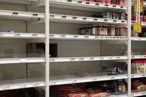 عکس/ قفسههای خالی فروشگاهها پس از کرونا
