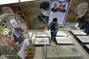 فیلم/ حالوهوای مزار شهید ابومهدی در نجف