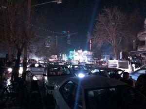 عکس/ هجوم مردم سلماس به خیابانها بعد از زلزله شدید