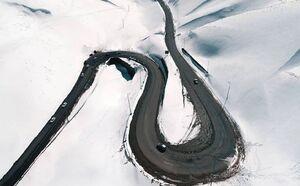 تصویری زیبا از جاده کندوان