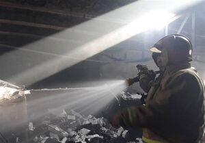 آتشسوزی گسترده در کارگاه چوببری +عکس