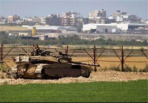 حرکت تانکهای ارتش رژیم صهیونیستی به نوار غزه