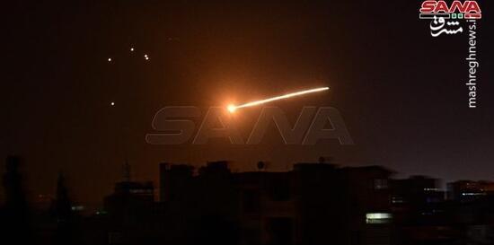 فیلم/ لحظه شلیک پدافند هوایی سوریه به سمت موشک صهیونیستها