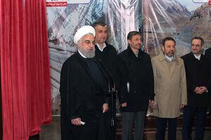 عکس/ حضور روحانی در مراسم افتتاح رسمی آزاد راه تهران_شمال