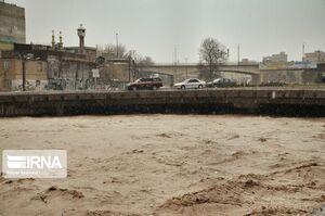 وضعیت رودخانه خرمرود پس از بارش باران