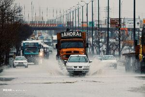 عکس/ آبگرفتگی معابر در همدان