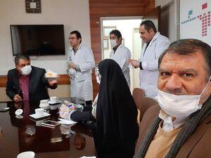 عکس/ بازدید دو نماینده منتخب تهران از قرنطینه بیمارستان