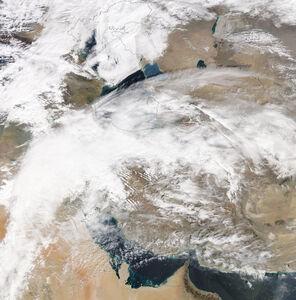 عکس ماهوارهای از آسمان ایران