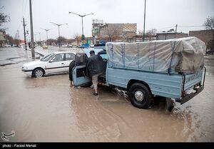 عکس/ آبگرفتگی معابر در کرمانشاه