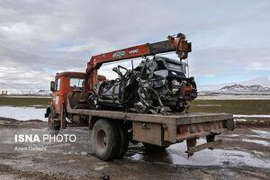 عکس/ تصادف زنجیرهای ۴۰ خودرو