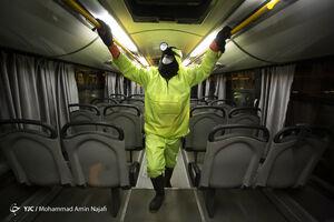 نحوه اجرای فاصلهگذاری اجتماعی در اتوبوسهای پایتخت