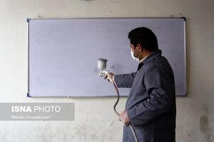 عکس/ مدارس مشهد ضدعفونی شد