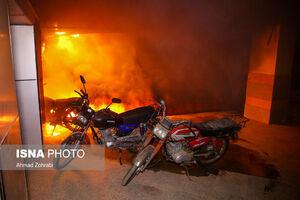 عکس/ آتشسوزی مرگبار مجتمع مسکونی در قم