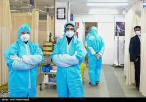 عکس/ بخش ویژه بیماران کرونا در بیمارستان کامکار قم