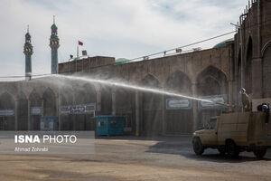 عکس/ تجهیزات سپاه قم برای ضدعفونی معابر و اماکن