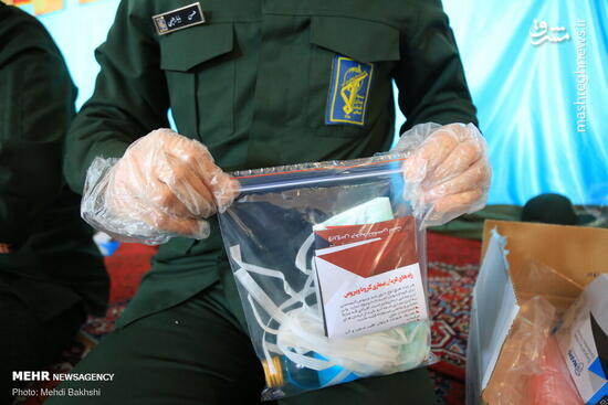 عکس/ توزیع بسته بهداشتی پیشگیری از کرونا در قم