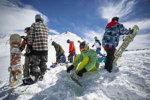 عکس/ از تفریحات زمستانی اهل همدان