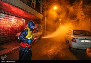 عکس/ ضد عفونی کردن اماکن عمومی اهواز