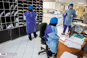 عکس/ بخش ویژه «بیماران کرونا» بیمارستان امام خمینی