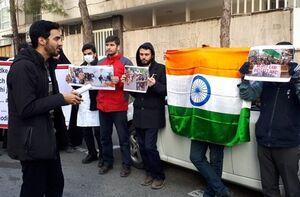 تجمع دانشجویان در اعتراض به اقدامات دولت هند علیه مسلمانان +عکس