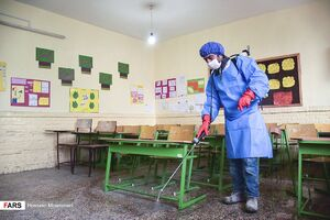 "عکس/ ضدعفونی کردن ""مدارس بجنورد"""