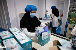 """عکس/ تولید ماسک بهداشتی در """"رباط کریم"""""""
