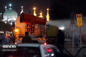 عکس/ ضدعفونی کردن معابر مشهد
