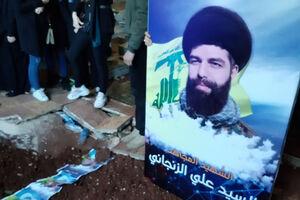 پیکر «شهید زنجانی» در بیروت به خاک سپرده شد +عکس