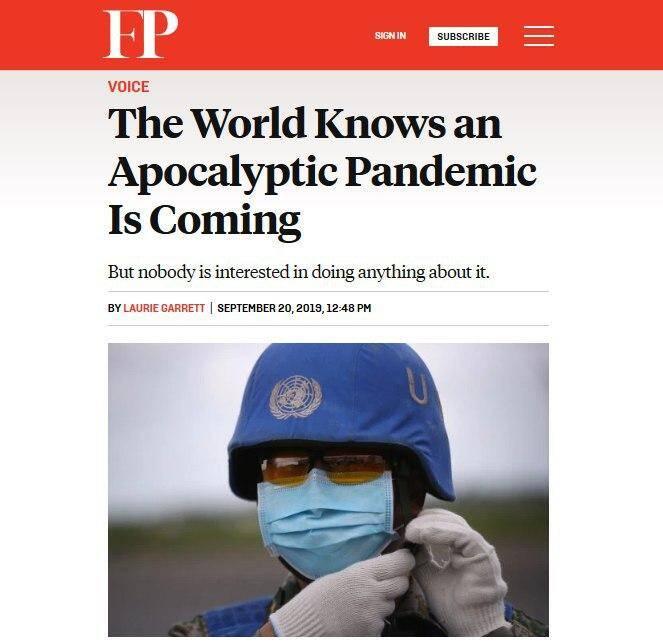 پیشبینی مخوف «فارین پالیسی» درباره کرونا - 6