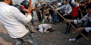 تجمع دانشجویان و طلاب در اعتراض به کشتار مسلمانان هند مقابل سفارت این کشور
