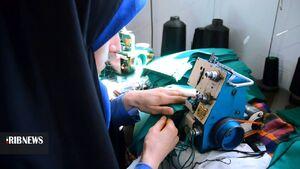 عکس/ تولید ماسک در حوزههای مقاومت بسیج