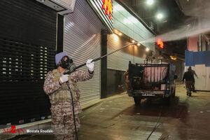 عکس/ ضدعفونی محله تجریش