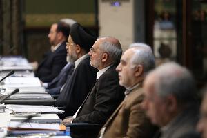 عکس/ غیبت وزیر مشکوک به کرونا در جلسه هیئت دولت