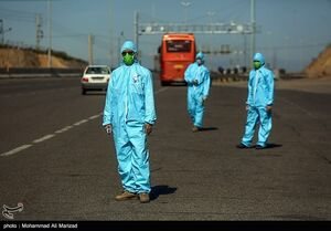 عکس/ تست حرارتسنجی در عوارضی قم-تهران