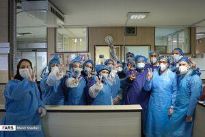 بخش ویژه کرونا بیمارستان فیروزآبادی
