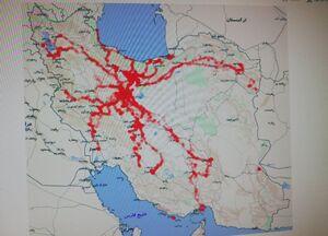اتود اولیه نقشه انتشار کرونا از مبدا قم +عکس