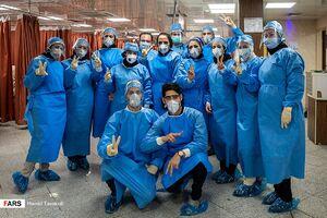 تصاویری از بخش ویژه کرونا در بیمارستان ارتش