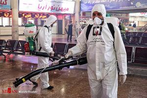 عکس/ ضدعفونی کردن پایانه جنوب تهران