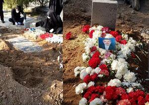 عکس/ حسین شیخ الاسلام به خاک سپرده شد
