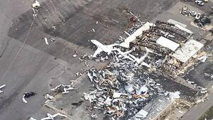 عکس/ نابودی دهها هواپیما در آمریکا