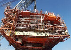 نصب سکوی فاز ۱۳ پارسجنوبی در خلیج فارس +عکس