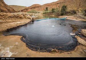 آلودگی نفتی در روستای پگین خوزستان