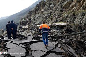 ریزش کوه در آزاد راه ـ تهران شمال