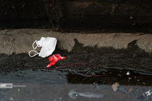 زبالههای رها شده مرتبط با کرونا