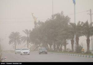 عکس/ گردو خاک در آسمان آبادان