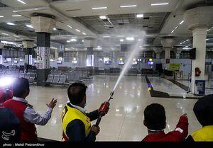 عکس/ ضدعفونی فرودگاه بین المللی اهواز