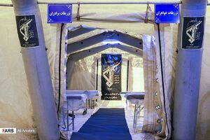 عکس/ افتتاح بیمارستان صحرایی«شهید باکری»