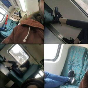 عکس/ حرکت ناپسند برخی مسافران مترو